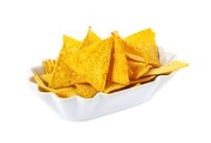 Κύπελλο των nachos που απομονώνονται Στοκ φωτογραφία με δικαίωμα ελεύθερης χρήσης