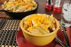 Κύπελλο casserole τόνου Στοκ Εικόνα