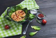 κύπελλο cutlets κρέατος κοτόπουλου Στοκ εικόνα με δικαίωμα ελεύθερης χρήσης