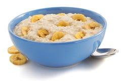 Κύπελλο oatmeal στο λευκό στοκ εικόνες