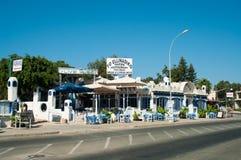 Κύπρος κοντά στο δρόμο εστιατορίων Στοκ Φωτογραφία