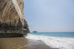 Κύπρος Παραλία κοντά στην πέτρα Aphrodite Στοκ Εικόνες