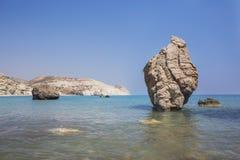 Κύπρος Παραλία κοντά στην πέτρα Aphrodite Στοκ φωτογραφίες με δικαίωμα ελεύθερης χρήσης