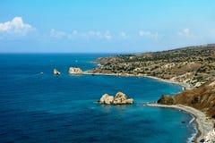 Κύπρος, tou Romiou της Petra Ο κόλπος Aphrodite Στοκ Εικόνες