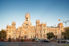 Κύρια άποψη του παλατιού Cybele στη Μαδρίτη, Ισπανία Στοκ φωτογραφία με δικαίωμα ελεύθερης χρήσης