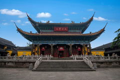 Κύρια αίθουσα ναών Zhenjiang Jinshan Jiangsu Στοκ φωτογραφία με δικαίωμα ελεύθερης χρήσης