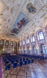Κύρια αίθουσα παλατιών Waldstein στοκ εικόνες