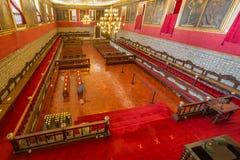 Κύρια αίθουσα του πανεπιστημίου της Κοΐμπρα, Πορτογαλία Στοκ Εικόνα