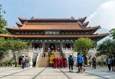 Κύρια αίθουσα Po Lin του μοναστηριού, Lantau, Χονγκ Κονγκ Στοκ φωτογραφία με δικαίωμα ελεύθερης χρήσης