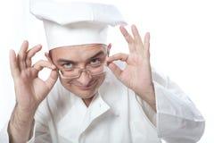 κύρια γυαλιά μαγείρων που κοιτάζουν Στοκ φωτογραφίες με δικαίωμα ελεύθερης χρήσης