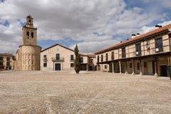 Κύρια εκκλησία δημάρχου τετραγώνων και Λα της Σάντα Μαρία, Arevalo, Στοκ Εικόνες