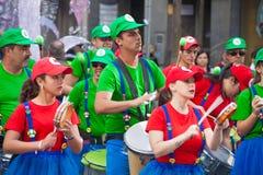 Κύρια καρναβάλι παρέλαση του Las Palmas Στοκ Φωτογραφία