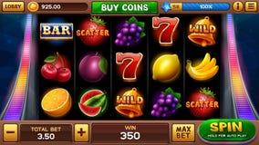 Κύρια οθόνη για το παιχνίδι αυλακώσεων απεικόνιση αποθεμάτων