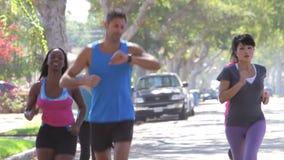 Κύρια ομάδα εκπαιδευτών γυναικών στο τρέξιμο απόθεμα βίντεο