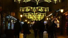 Κύρια οδός Βουδαπέστη αγορών απόθεμα βίντεο