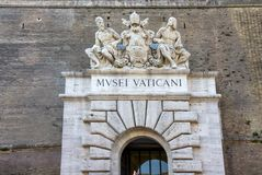 Κύρια πόρτα μουσείων πόλεων του Βατικανού, Βατικανό Στοκ Φωτογραφίες