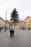 Κύρια πλατεία της Βασιλείας κατά τη διάρκεια της περιόδου Χριστουγέννων Στοκ φωτογραφία με δικαίωμα ελεύθερης χρήσης