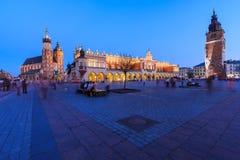 Κύρια πλατεία της Κρακοβίας Στοκ Φωτογραφίες