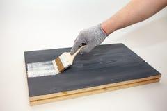 Κύρια χρώματα η επιτροπή με το άσπρο χρώμα Δημιουργήστε το fotofone για τη διαφήμιση από το ξύλο Τονισμός της επιτροπής με το άσπ στοκ φωτογραφίες