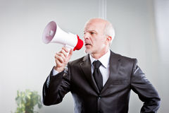 Κύριες δίνοντας διαταγές στους υπαλλήλους του Στοκ Φωτογραφίες