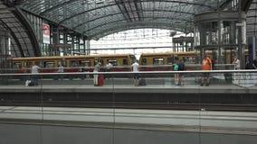 Κύριες διαδρομές σταθμών του Βερολίνου απόθεμα βίντεο