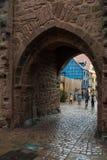 Κύριες πύλες σε Riquewihr, Γαλλία Στοκ Φωτογραφία