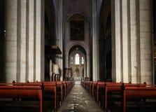 Κύριοι σηκός και βωμός στον καθεδρικό ναό Αγίου Trophime σε Arles, Γαλλία Bouches-du-Ροδανός, Γαλλία Στοκ Φωτογραφίες
