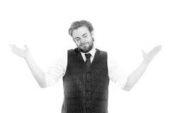 Κύριος ή άτομο ή χαμογελώντας κύριος στο γιλέκο και το δεσμό Στοκ Εικόνα