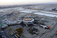 Κύριος αερολιμένας του Πεκίνου, τερματικό 1, T1 Στοκ Εικόνες