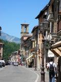 Κύριος δρόμος Amatrice πριν από το σεισμό Ιταλία στοκ φωτογραφία με δικαίωμα ελεύθερης χρήσης