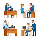 Κύριος κύριος εκτελεστικός παίρνοντας συνέντευξη από υποψήφιος στην εργασία διανυσματική απεικόνιση