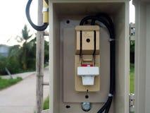 Κύριος ηλεκτρικός έλεγχος μετατροπής στην Ταϊλάνδη Στοκ φωτογραφία με δικαίωμα ελεύθερης χρήσης