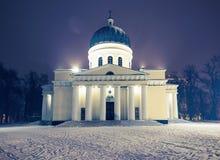 Κύριος κεντρικός καθεδρικός ναός Nativity με το χιόνι Στοκ εικόνα με δικαίωμα ελεύθερης χρήσης