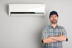 κύριος κλιματιστικών μηχανημάτων στοκ εικόνες