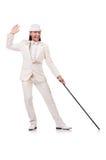 Κύριος κοστούμι που απομονώνεται στο άσπρο στο λευκό Στοκ Φωτογραφίες