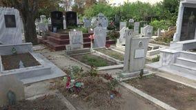κύριος μαροκινός μουσουλμανικός παλαιός νεκροταφείων fes Βάρνα bulblet 4K απόθεμα βίντεο