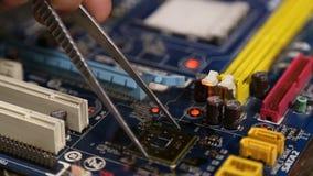 Κύριος πίνακας υπολογιστών επισκευής απόθεμα βίντεο