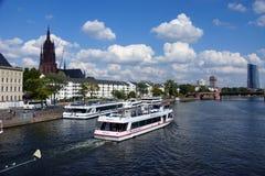 Κύριος ποταμός Φρανκφούρτη Στοκ Φωτογραφίες