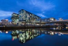 Κύριος σταθμός του Βερολίνου (γερμανικό Hauptbahnhof) στις 17 Φεβρουαρίου 2014 στο Βερολίνο, Γερμανία Στοκ Φωτογραφία