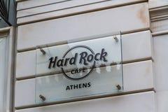 Κύριο άρθρο, σημάδι καφέδων σκληρής ροκ, Αθήνα στοκ φωτογραφία με δικαίωμα ελεύθερης χρήσης