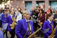 Κύριο άρθρο, στις 4 Οκτωβρίου 2015: Barr, Γαλλία: Fete des Vendanges Στοκ Φωτογραφίες