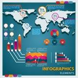 κύριο ασφάλιστρο infographics συλ&la Στοκ Εικόνες