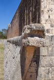 Κύριο δικαστήριο σφαιρών σε Chichen Itza, Yucatan, Μεξικό Στοκ Φωτογραφία