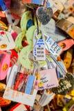 Κύριο κλειδί της αγάπης στον πύργο Namsan Σεούλ, Νότια Κορέα Στοκ Εικόνες