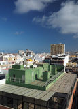 Κύριο μεγάλο καναρίνι Islan του Las Palmas ξενοδοχείων condos άποψης στεγών Στοκ Φωτογραφία