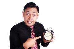 Κύριο παρουσιάζοντας ρολόι στοκ εικόνες με δικαίωμα ελεύθερης χρήσης