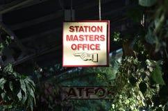 Κύριο σημάδι γραφείων σταθμών Στοκ εικόνες με δικαίωμα ελεύθερης χρήσης