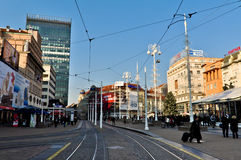 Κύριο τετράγωνο πόλεων του Ζάγκρεμπ Στοκ φωτογραφία με δικαίωμα ελεύθερης χρήσης