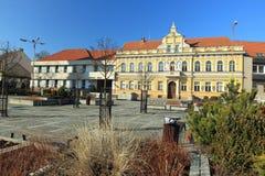 Κύριο τετράγωνο σε Milevsko Στοκ Φωτογραφία
