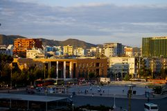 Κύριο τετράγωνο στα Τίρανα στοκ φωτογραφία